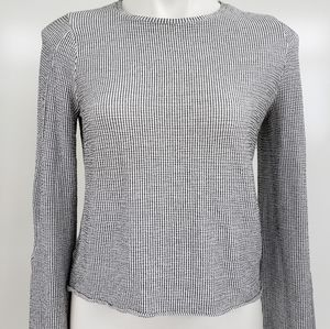 ZARA Woman Basic Collection Cropped Stretchy Top